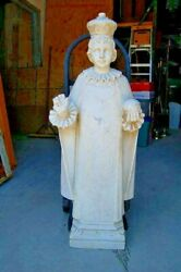 + Nice Older Marble Outdoor Statue Of The Infant Of Prague 43 Ht+ Chalice Co.