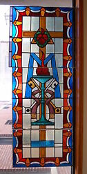 + Church Stained Glass Window + 2 Of 7 + Shipping Available +