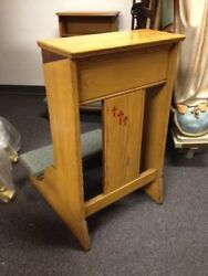 + Traditional Solid Oak Wood Kneeler Prie-dieu + 2 Available + Chalice Co. +