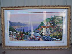 Kerry Hallam's Crescent Bay Exceptional Large, Signed Serigraph Frame 40 X 64