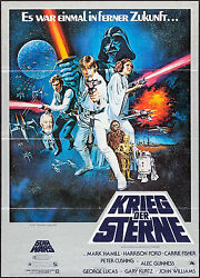 Poster Star Wars 1977 German A1 23.25x33 Vf+ 8.5 Harrison Ford George Lucas