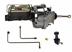 64 65 66 Ford Mustang 7 Power Chrome Brake Booster Master Cylinder And Line Kit