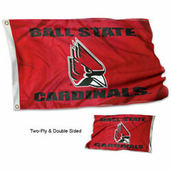 Ball State Cardinals Flag Double Sided 2-ply 3x5 Foot Outdoor Banner