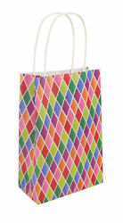6 Paper Bags With Handles Choose From 14 Colours Party Gift Treat Candy GBP 2.89