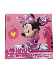 New Minnie Mouse Cube Box Puzzle 24 Piece Kid Toys