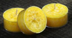 10pk CALMING CHAMOMILE FLOWERS Triple Scented TEA LIGHT CANDLES 60 hrspack