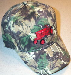 Farmall Cub Tractor Embroidered Camo Hat 2 Types