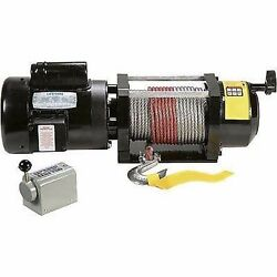Winch 110v / 240v Ac - 2000 Lb Cap - 100ft Cable - Drum Switch - .75 Hp
