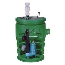 Complete Sewage Pump Ejector System - 2 Out - 115v 1ph 13a 4/10 Hp 80 Gpm