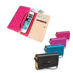 Leather Strap Cash Clutch Wallet Phone Case Cover For iPhone amp; Samsung Galaxy $8.05