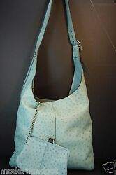 GORGEOUS !!! COACH VERY LIMITED EDITION BLUE OSTRICH. HAND MADE IN ITALY BAG