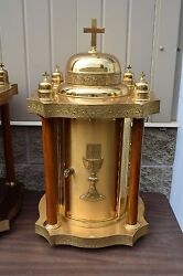 + Fine Older Eastern Rite Tabernacle with Key + (#FC100) + Chalice Co. +