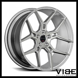 20 Giovanna Haleb Silver Concave Wheels Rims Fits Ford Mustang