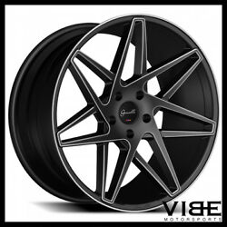 20 Gianelle Parma Black Concave Wheels Rims Fits Ford Mustang Gt Gt500