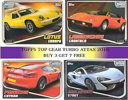 2016 Topps Top Gear Turbo Attax Choose Base And Shiny Cards - Buy 3 Get 7 Free