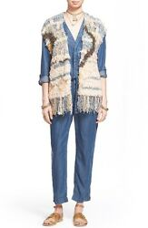 Nwt Free People And039rag Rugand039 Knit Vest Retail 298