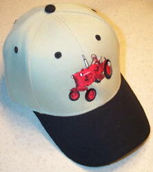 Farmall Cub Tractor Embroidered Solid Or Mesh Hat 6 Colors