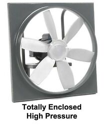 18 Enclosed Exhaust Fan - 3375 Cfm - 115/230 V - 1 Phase - 1/3 Hp - 6 Blades