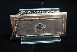 German Sterling Silver And Guilloche Large Purse/box By Fritz Bemberg Circa 1920