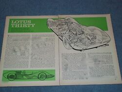 1964 Ford Powered Lotus Bodied Vintage Race Car info Article