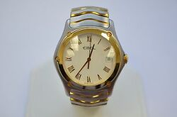 W225 Ebel Stainless Steel 18k Yellow Gold Bezel Quartz Two 2 Tone E1187f41