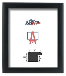 Us Art Frames 1 Black Nugget Contemporary Mdf Wood Picture Poster Frames S-15