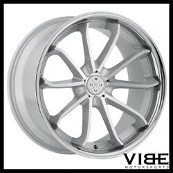 20 Blaque Diamond Bd23 Silver Concave Wheels Rims Fits Ford Mustang Gt Gt500