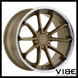 20 Blaque Diamond Bd23 Bronze Concave Wheels Rims Fits Ford Mustang Gt Gt500