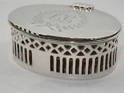 Rare Antique Dominick And Haff Sterling Hinged Reticulated Box Sold By M. Scooner