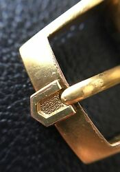 Vintage Rare Universal Geneva 14 16mm Gold Plated Buckle Polerouter Tri-compax