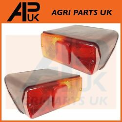 Pair Rear Brake Lights Lamps For Ford New Holland 5610 6610 7610 7810 Tw Tractor