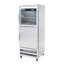 Beverage Air Ri18hc-hgs Half Glass/solid Single Section Reach-in Refrigerator