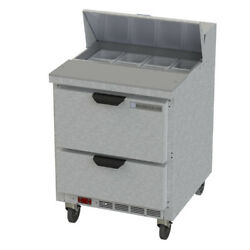 Beverage Air Sped27hc-b 27 Refrigerated Sandwich / Salad Prep With Drawers