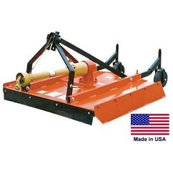 Field And Brush Mower Rotary Cutter - 3 Point Hitch Mounted - Pto Driven - 48 Cut