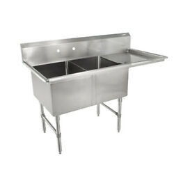John Boos 2b18244-1d18r Two Compartment Sink W/ 18 Right Drainboard