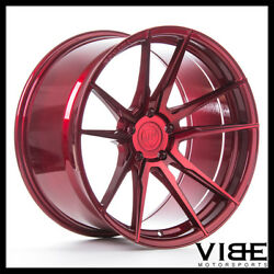 20 Rohana Rfx2 Red Forged Concave Wheels Rims Fits Infiniti Q60 Coupe
