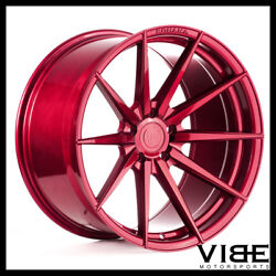 20 Rohana Rfx1 Red Forged Concave Wheels Rims Fits Hyundai Genesis Coupe