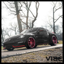 20 Rohana Rfx1 Red Forged Concave Wheels Rims Fits Nissan 370z