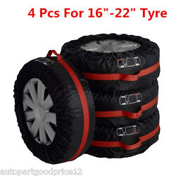 4x Car Truck Seasonal Spare Tyre 16-22 Tire Protection Storage Bags Carry Tote