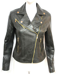 Grace Ladies Women's Black Designer Casual Fashion Model Fitted Leather Jacket