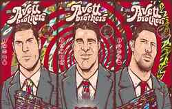 The Avett Brothers 2016 Red Rocks Co Poster Signed And Numbered /5 Lava Uncut