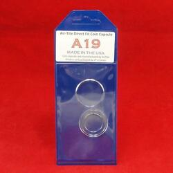 Airtite Direct Fit Coin Holder Capsules - Individual Retail Pkg Model A19 Qty 50