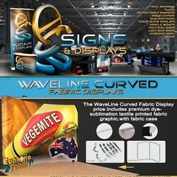 20ft, Waveline Curved Trade Show Display With Carry Case.