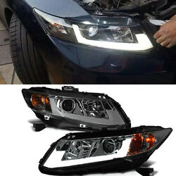 For Honda CIvic Coupe 2-Door 2012-2013 Xenon Headlight U-Tube DRL Turn signal