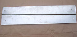 British Sports Car Door Threshold Plates Mg Tr A-h Pair Polished Stainless