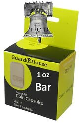 10 Silver Gold Copper 1oz Bar Ingot Coin Capsule Direct Fit Guardhouse Holder