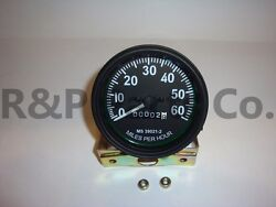 Speedometer Gauge Compatible With Willys Mb Jeep Ford Cj Gpw Black Bezel 60 Mph