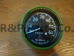 Speedometer Gauge Compatible With Willys Mb Jeep Ford Cj Gpw Olive Bezel 60 Mph