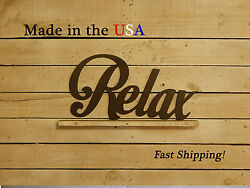 Large Relax Sign Spa Decor Inspirational Art W1080
