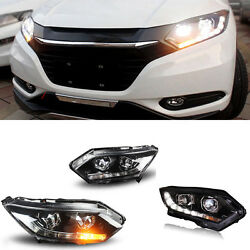 For Honda HR-V 2014-2016 Xenon Headlight assembly Yellow turn-signal lights